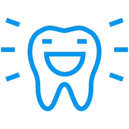 A happy tooth icon