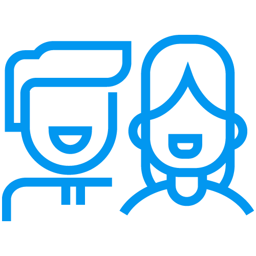 Two people smiling icon