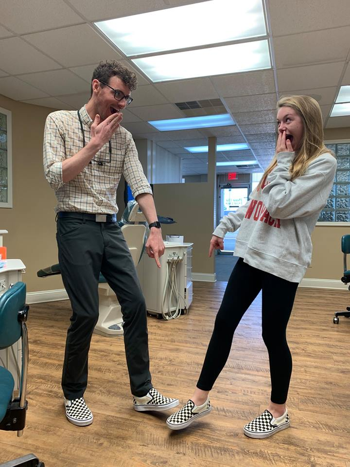Matching Vans shoes at Skyblue Orthodontics